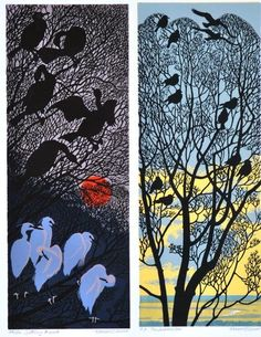 robert gillmor art linocut - Google Search