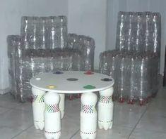 мебель из пластиковых бутылок своими руками: 2 тыс изображений найдено в Яндекс.Картинках Empty Plastic Bottles, Plastic Bottle Crafts, Diy Bottle, Recycled Bottles, Upcycled Crafts, Recycled Art, Repurposed, Diy Furniture, Outdoor Furniture Sets
