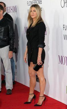 Jennifer Aniston in a LBD and stilettos