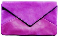 Purple envelope clutches