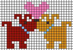 dog love cross stitch pattern heart at Valentine Puppy Dog Love! Perler Patterns, Loom Patterns, Beading Patterns, Embroidery Patterns, Cross Stitch Boards, Cross Stitch Heart, Cross Stitch Animals, Cross Stitching, Cross Stitch Embroidery