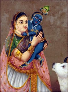 very young very blue Krishna - maybe the blue fades as the being slowly ages?