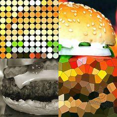"""Série Pop Art """"Burger"""" (Arts numériques),  60x60x0,3 cm par vincent oriol """"Sandwich d'origine allemande mondialement connu, bombe calorique, mais tellement bon !""""  Artiste Vincent Oriol  Un style Pop Art contemporain. Résolution 300 dpi Afin d'être une oeuvre originale, elle est éditée et signée en 7 exemplaires maximum  FORMAT : 60x60cm CHOIX DU PAPIER / SUPPORT : CANSON Infinity Baryta Photo 310g CERTIFICATION DIGIGRAPHIE : Oui CONTRECOLLAGE : Dibond 3 mm PLASTIFICATION : Brillant CHASSIS…"""