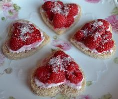 Raspberry Sparkle Tea Sandwiches