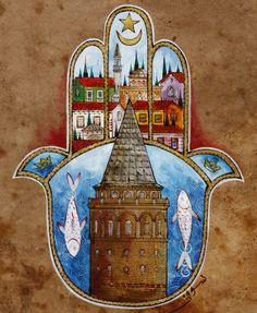 Galata Kulesi ve Fatma'nın Eli Minyatür | OFİS | Taner Alakuş Minyatür Atölyesi | ArkofCrafts
