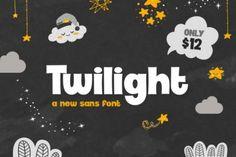 Twilight (Font) by Salt & Pepper Designs · Creative Fabrica Great Fonts, All Fonts, Awesome Fonts, Comic Sans Font, Love Mail, Illustrations, Sans Serif, Serif Font, Premium Fonts