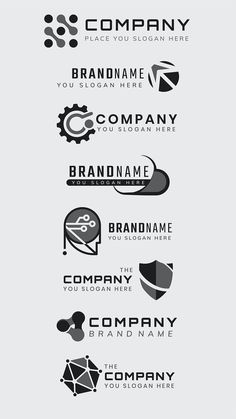 Gray business logo vector minimal icon set | premium image by rawpixel.com / Kappy Kappy Logo Psd, Business Logo, Icon Set, Slogan, Brand Names, Minimalism, Cool Designs, Logo Design, Stock Photos