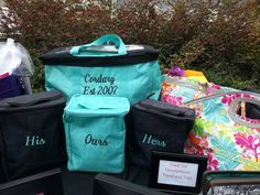 Personalized Large Utility Tote with three organizers. Weekend trips, everyday storage and car organization.