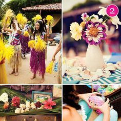 Luau Bridal Shower. * Includes link to more pics.