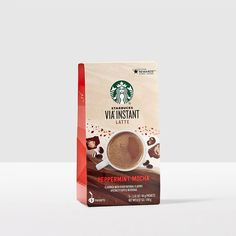 VIA® Instant Peppermint Mocha Latte. Rich and creamy. Crisp and minty. An instant holiday classic.