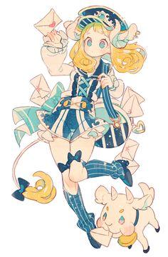 64 Ideas Drawing Simple Girl Anime Characters For 2019 Art Kawaii, Manga Kawaii, Arte Do Kawaii, Loli Kawaii, Anime Chibi, Art Anime Fille, Anime Art Girl, Anime Girls, Anime Girl Dress