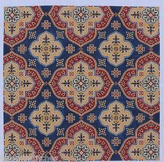 CanvasWorks PO72A Bergama Upholstery Hand Painted Needlepoint Canvas