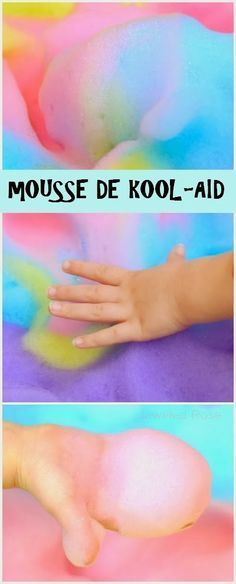 Mousse colorée