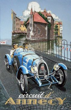 Vintage Style Annecy Poster, BNC, by © Dennis Simon. This poster is available at… Car Illustration, Illustrations, Classic Motors, Classic Cars, Evian Les Bains, Graffiti Kunst, Art Deco Car, Pop Art, Vintage Art Prints