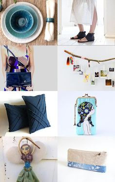 Shades of Blue by Mammabook on Etsy--Pinned with TreasuryPin.com