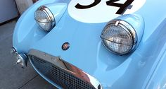 they are also a focal point, the 'face' of the car, so they're one of the most important aspects of its design. Here are some of the most unusual headlights in history… Transportation Technology, Old Hot Rods, Frog Eye, Austin Healey Sprite, Vintage Racing, Mk1, Automotive Design, My Ride, Le Mans