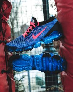 Behind The Scenes By footlocker Sneakers For Sale, Custom Sneakers, Sneakers Nike, Nike Air Vapormax, Nike Air Force, Nike Vapormax Flyknit, Blue Flames, Foot Locker, Cleats