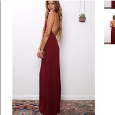 The Tyra Maxi by Flynn Skye BNWT Available in XS, S or M.  SOLD OUT EVERYWHERE....Beach meets downtown cool statement dress with a long flowy maxi silhouette.  Sleeveless with a halter top and open back finish.  Designed in Venice, made in Los Angeles  rayon dry clean Flynn Skye Dresses Maxi