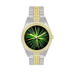 Firework Burst in Green & Yellow Watch