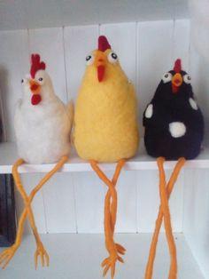 Some Ideas, Felt Animals, Needle Felting, Diy Crafts, Wool, Humorous Animals, Hens, Birds, Felting