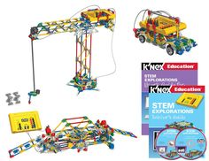The K'NEX STEM Explorations set is designed for students to investigate a variety of concepts related to science, technology, engineering and math. The modules are hands-on, cooperative activites prov