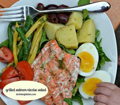 grilled salmon nicoise salad by Heather@MamaSass, via Flickr