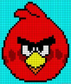 Angry Birds perler hama bead pattern or cross stitch pattern