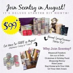 Join my team this month only and get DOUBLE!!! http://abrady.scentsy.us