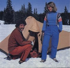 Camping with Marmot in 1979.