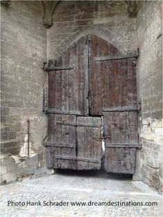 Door to the courtyard Palace of the Popes Avignon France Cruise Vacation Packages, Caribbean Cruise, Vatican, Rome, Medieval, France, Doors, Building, Palaces