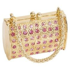 Rose Crystal Handbag Trinekt Box