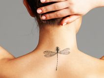 Dandelion Tattoo (Set of - Dandelion Temporary Tattoo / Innocence Tattoo / Feminine Tattoo / Plant Tattoo / Dandelion Tattoo Design Mini Tattoos, Fake Tattoos, Small Tattoos, Cool Tattoos, Arabic Tattoos, Dragon Tattoos, Tatoos, Dandelion Tattoo Design, Small Dragonfly Tattoo