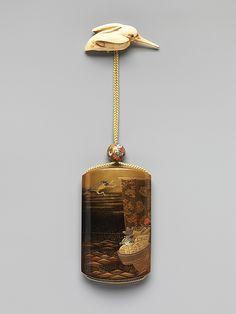 Inrō with Treasure Boat Kajikawa Bunryūsai  Period: Edo period (1615–1868) Date: 19th century Culture: Japan