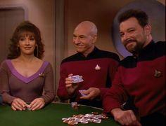 Troi, Picard, Riker