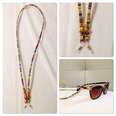 Cuelga gafas #diy #habdmade #sunglasses #summer Eye Glasses, Eyewear, Chokers, Personalized Items, Chain, Sunglasses, Hair Styles, Summer, Handmade