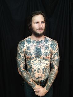 greenpointtattooco:  update on josh's torso and arms by chuck donoghue