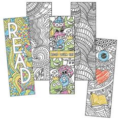 Put out some Color Craze Coloring Bookmarks with coloring supplies to encourage a creative outlet. Colouring Pages, Adult Coloring Pages, Coloring Books, Library Lessons, Library Ideas, Library Week, Library Themes, Library Center, Library Activities