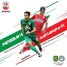 Match Poster Persebaya Surabaya Vs Martapura FC . Babak Semifinal Liga 2 Indonesia