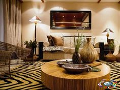 Afrocentric decor for living room