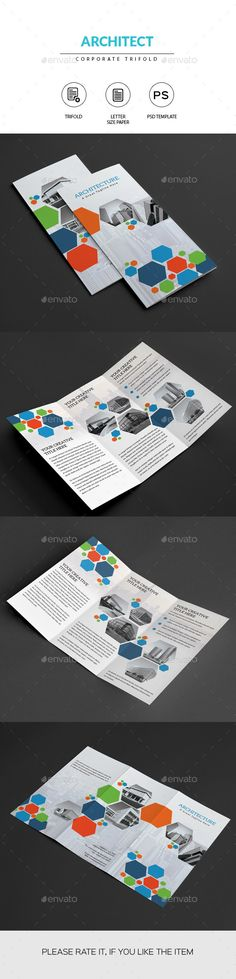 Magnificent PSD  Architect Trifold Brochure  Template • Only available here ➝ http://graphicriver.net/item/architect-trifold-brochure/11202014?ref=pxcr