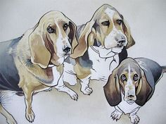 """11""""x14"""" Custom Watercolor Portrait of your favorite Animal or Pet on Etsy, $125.00"""