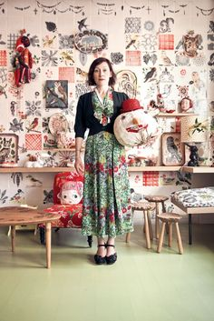 Nathalie Lete by Karel Balas Studios D'art, Turbulence Deco, The Design Files, Paperclay, Mode Inspiration, Cheap Home Decor, Artist At Work, Textile Art, Ideias Fashion