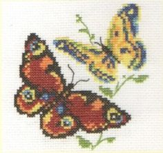 We hope you get to see plenty of these this weekend! Butterfly Cross Stitch, Cross Stitch Designs, Blackwork, Insects, Embroidery, Pattern, Crafts, Crossstitch, Butterflies