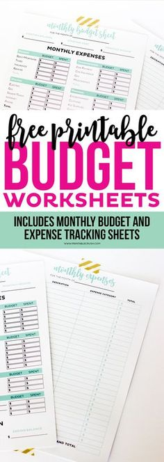 10 Awesome budgeting printables to help you save money Printable - how to make a monthly budget spreadsheet