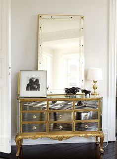 Great mirror and dresser