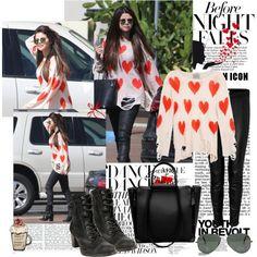 """Selena Gomez in L.A. - Street Style"" by nilnilnil on Polyvore"