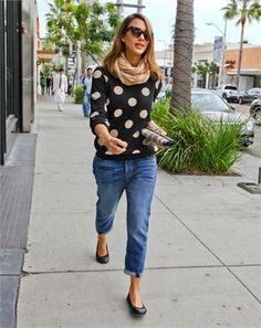 TREND: Spots. 'Jessica Alba snapped in #spots.'