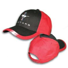 #Ford Mustang Red and Black hat!!!!!#NASCAR #FORDRACING See more Ford Merchandise At www.nascarshopping.net
