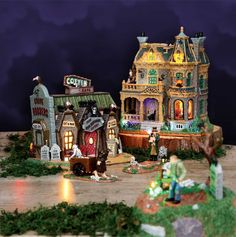 Shown here are Spooky Town Withered Mansion (SKU# 45662) and Coffin Cafe (SKU# 45675).