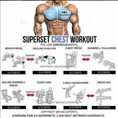 Chest training, exercises for 3-4 supersets, 2min rest between supersets. Related posts:ABS ExercisesCardio Jump workoutARMs exercisesRead More →